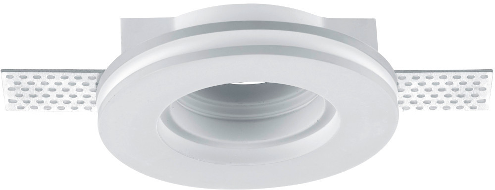 ronde inbouwspot van gips