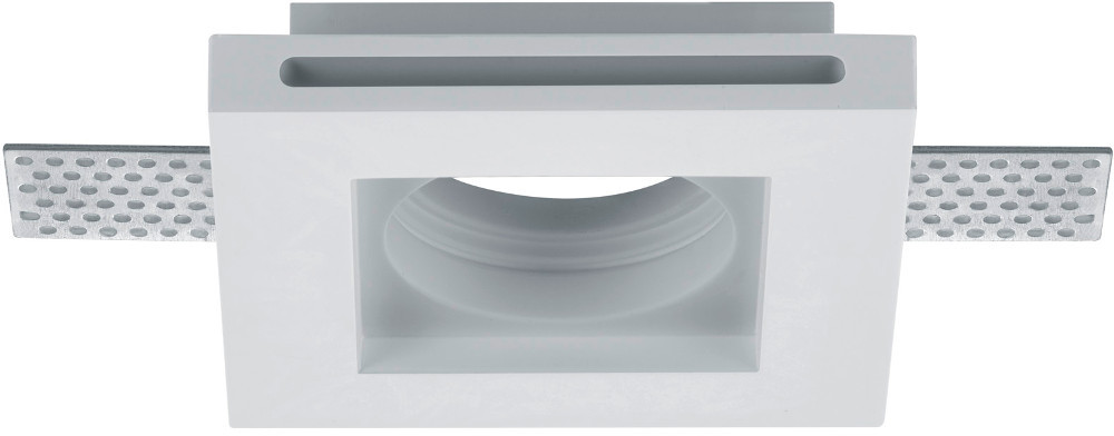 vierkante inbouwspot van gips