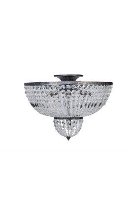 ETH Azzaro plafonnière 05-2313-18 oud zilver/kristal