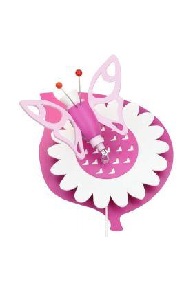 Wandlamp Vlinder roze