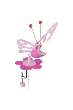 Klemspot Vlinder roze