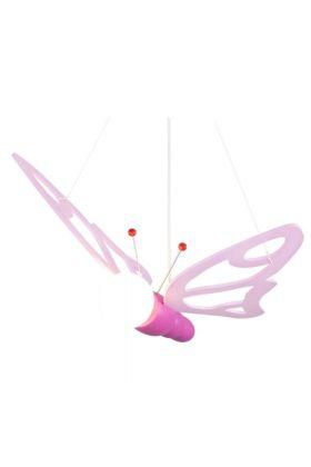 Hanglamp Vlinder roze