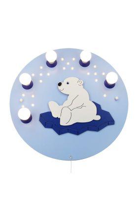 Plafondlamp Ijsbeer blauw