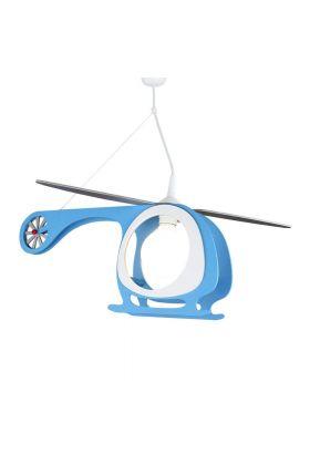 Hanglamp Helikopter blauw