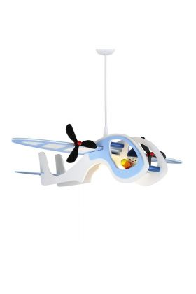 Hanglamp Vliegtuig Joe blauw