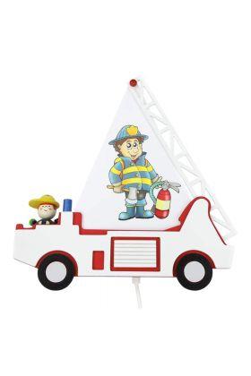 Wandlamp Brandweerauto Fred wit