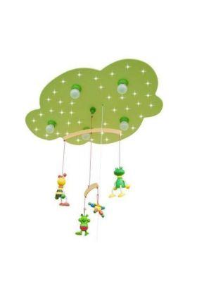Plafondlamp Wolk Bij en Kikker groen