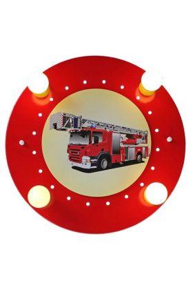 Plafondlamp Brandweerauto rood