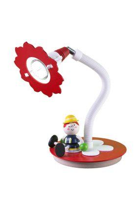 Tafellamp Brandweerman Fred rood