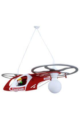 Hanglamp Brandweerhelicopter Fred rood 60cm
