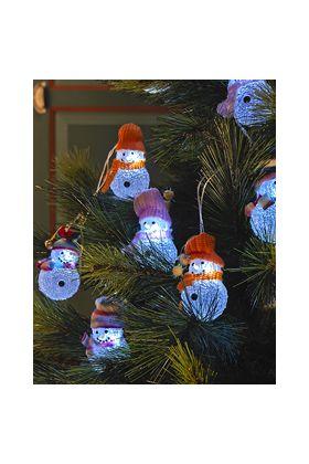 Konstsmide decosnoer met 8 LED acryl sneeuwpoppen 1284-503