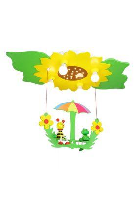 Plafondlamp Bij en Kikker groen