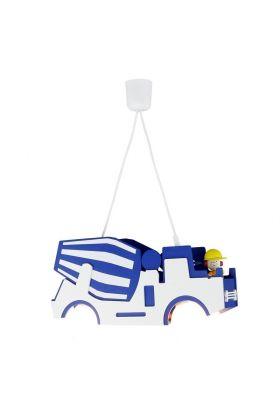 Hanglamp Cementwagen Markus blauw