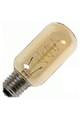 Kooldraad Gloeilamp E27 40W buislamp 45x125mm goud