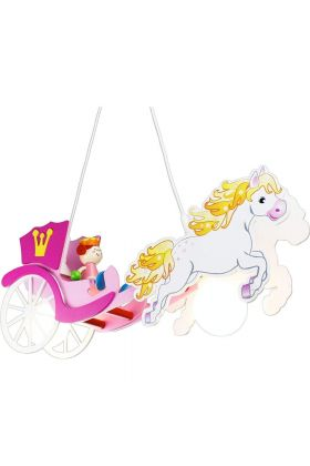 Hanglamp Paardenkoets prinses roze