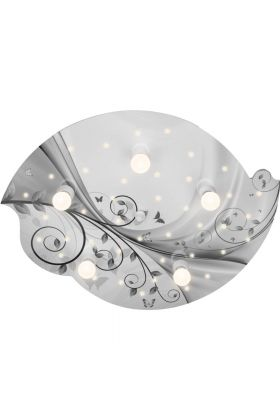 Plafondlamp Wolk Sarah Fantasie zilver