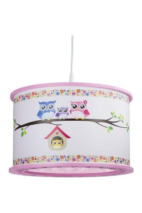 Hanglamp Uilen familie Roze