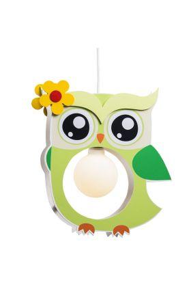Hanglamp Uil groen