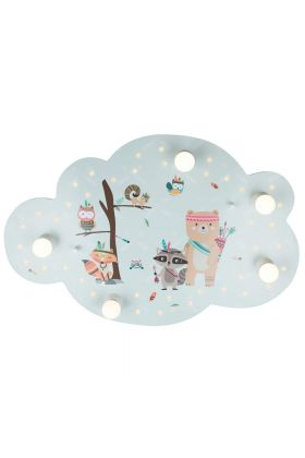 Plafondlamp Wolk Little Indians mint