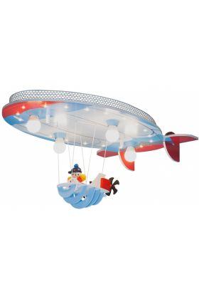 Plafondlamp Luchtschip Joe blauw