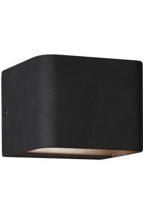 Wandlamp Melvin zwart 11cm