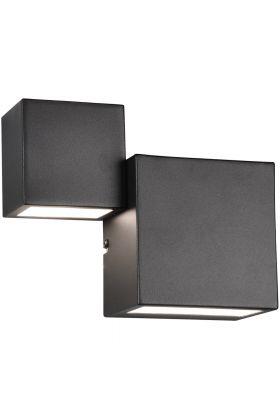 Wandlamp Miguel zwart 21cm