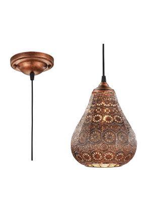 Trio Jasmin 303700162 hanglamp koper