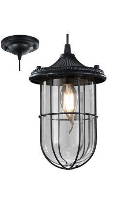 Trio Birte 303800102 hanglamp zwart