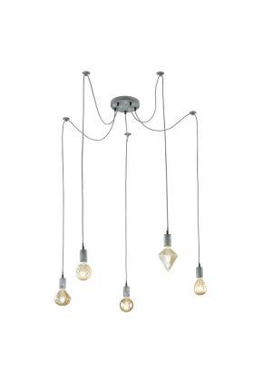 Trio Cord 310100561 hanglamp grijs