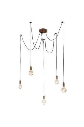 Trio Cord 310100562 hanglamp koper