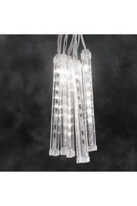 Konstsmide 24V koppelbaar LED systeem 2,4m zes tubes met sneeuw-effect 4615-103