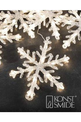Konstsmide 24V koppelbaar LED systeem streng met 5 sneeuwvlokken 4660-103