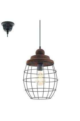 Eglo Bampton 49499 hanglamp bruin