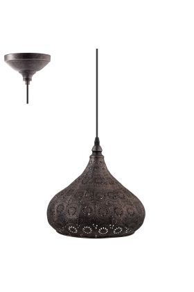 Eglo Melilla 49714 hanglamp zilver
