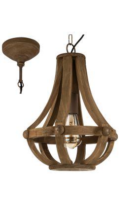 Eglo Kinross 49724 hanglamp bruin