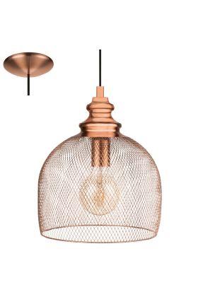 Eglo Straiton 49738 hanglamp koper