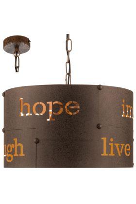 Eglo Coldingham 49743 hanglamp roest