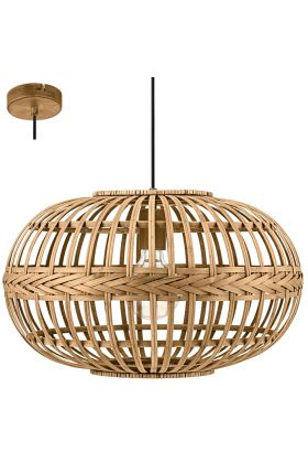 Eglo Amsfield 49771 hanglamp bruin