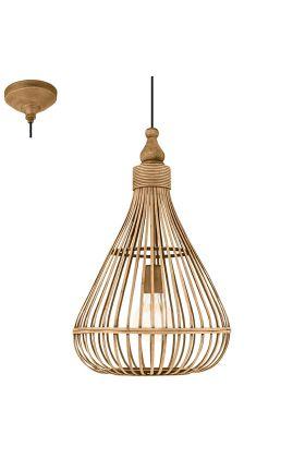 Eglo Amsfield 49772 hanglamp bruin