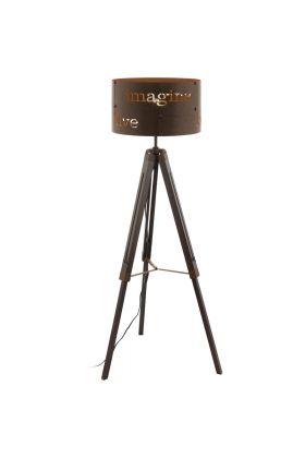 Eglo Coldingham 49793 vloerlamp roest
