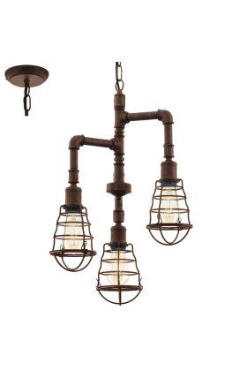 Eglo Port Seton 49808 hanglamp bruin