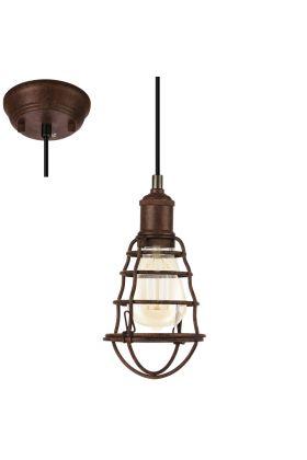Eglo Port Seton 49809 hanglamp bruin