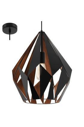 Eglo Carlton 49878 hanglamp koper