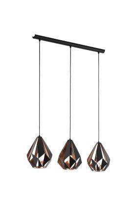 Eglo Carlton 49991 hanglamp koper