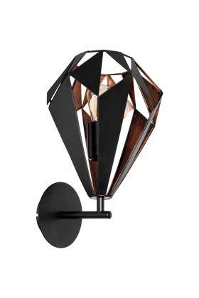 Eglo Carlton 49992 wandlamp koper