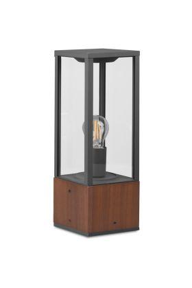 Sokkellamp Garonne hout 40cm
