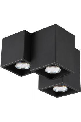 Plafondlamp Fernando 604900332 zwart 23cm