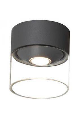 Plafondlamp Varese antraciet 11cm