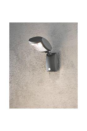 Konstsmide Latina 7938-370 sensorlamp antraciet