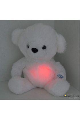 Niermann Knuffelbeer nachtlampje 80026 wit 22cm